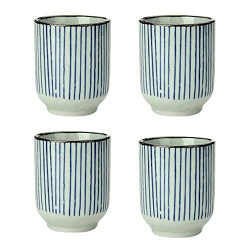 Set of 4 Ceramic Tea Cups Japanese Style Creative Teacups Small Teacups Gift B