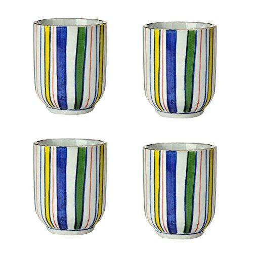Set of 4 Ceramic Tea Cups Japanese Style Creative Teacups Small Teacups Gift C
