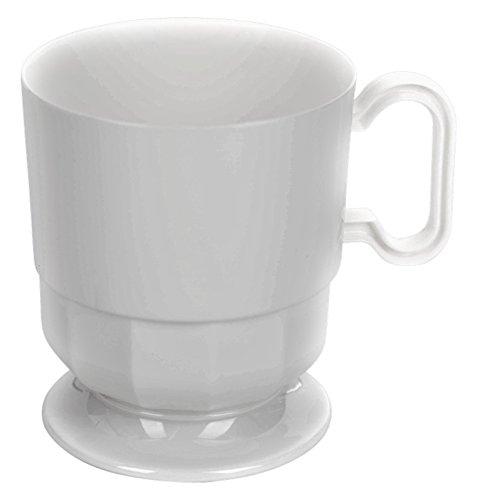 Exquisite White Premium Plastic Coffee Cups - 8 oz Coffee Mug - White Tea Cup - 192 - Count