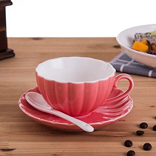 Creative ceramic coffee mug European bulk coffee mug red tea cups-F