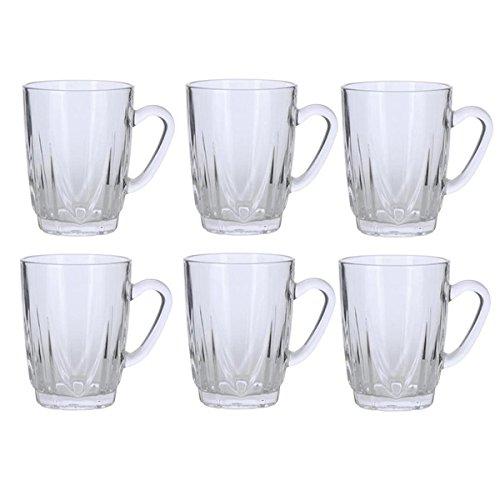 Alpine Handled Glass Tea Cup Set Set of 6