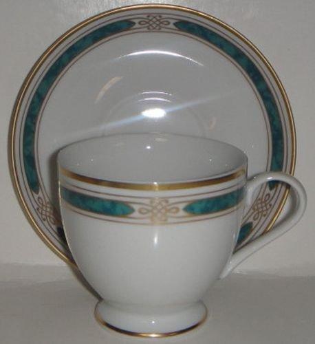 Gorham Regalia Court Teal Cup Saucer