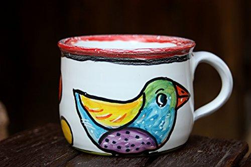 Bird Mug Ceramic Coffee Mug Stoneware Tea Cup Christmas gift