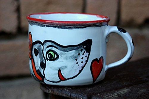 Dog Mug Ceramic Coffee Mug Stoneware Tea Cup Christmas gift