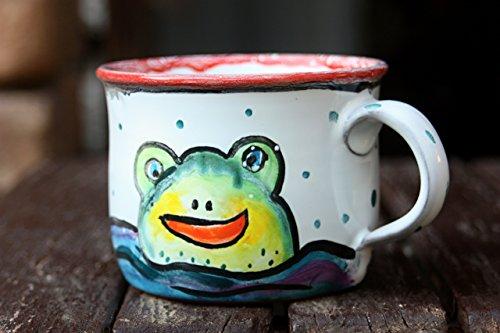 Frog Mug Ceramic Coffee Mug Stoneware Tea Cup Christmas gift