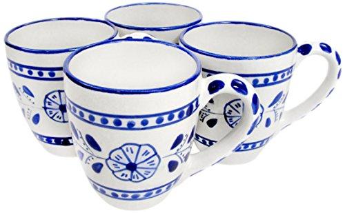 Le Souk Ceramique AZ57 Stoneware Tea Cups Set of 4  Azoura
