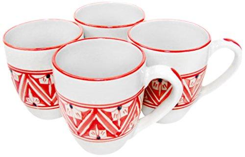 Le Souk Ceramique NJ57 Stoneware Tea Cups Set of 4 Nejma