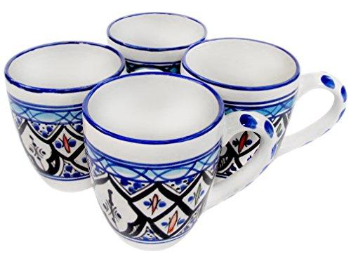 Le Souk Ceramique TIB57 Stoneware Tea Cups Set of 4 Tibarine