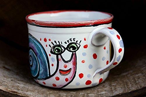 Snail Mug Ceramic Coffee Mug Stoneware Tea Cup Christmas gift