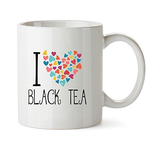 Idakoos - I love Black Tea colorful hearts - Drinks - Mug