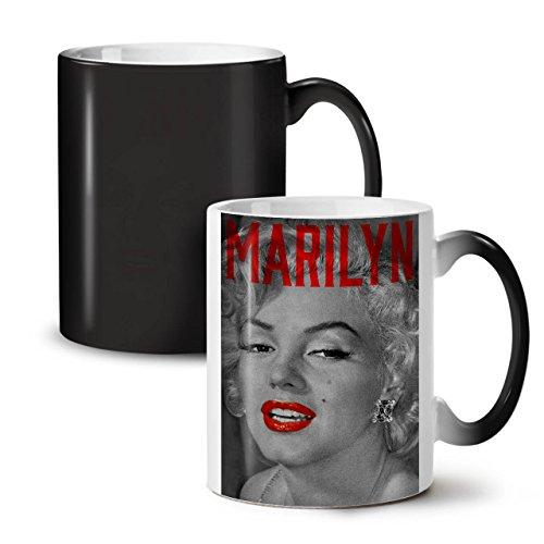 Marilyn Monroe Urban Beach Black Colour Changing Tea Coffee Ceramic Mug 11 oz  Wellcoda