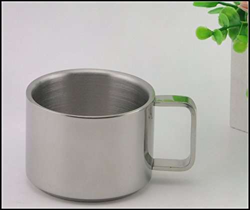 SSBY Stainless Steel Household Living Room Coffee Cup Mugs Baby To Drink A Glass Of Water Double Insulated Drinking Cup