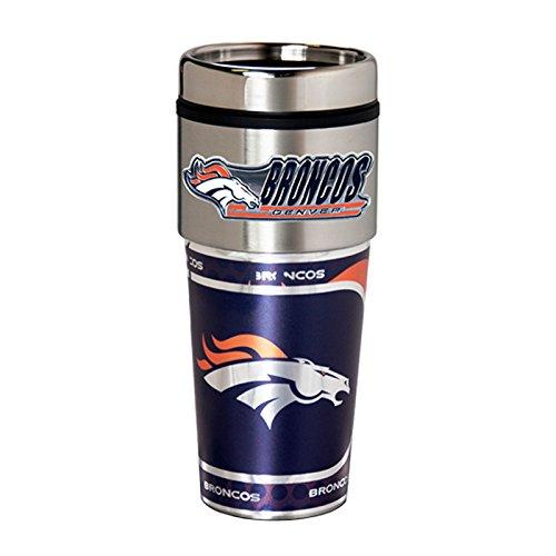 Denver Broncos 16oz Stainless Steel Travel TumblerMug