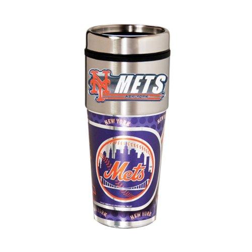 New York Mets 16oz Stainless Steel Travel TumblerMug