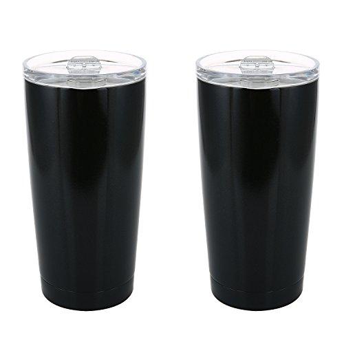 Members Mark 20 oz Stainless Vacuum Insulated Tumblers Set of 2 Black