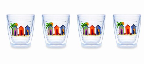 Tervis Tumbler Cabana 12-Ounce Double Wall Insulated Tumbler Set of 4