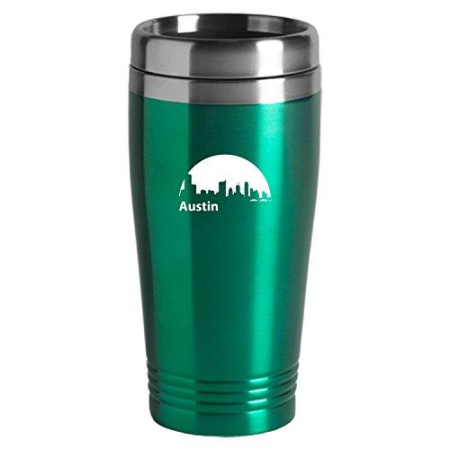 Austin Texas-Travel Mug Tumbler-Green