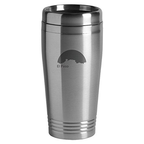 El Paso Texas-Travel Mug Tumbler-Silver