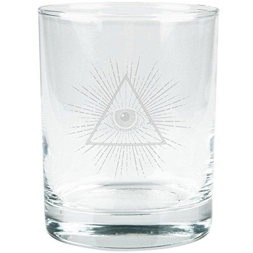 Illuminati Etched Glass Tumbler Clear Glass Standard One Size
