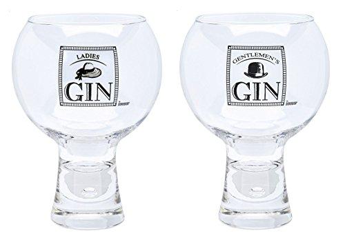 Durobor Alternato Bubble Base Ladies and Gentlemens Gin Glass Glasses Set