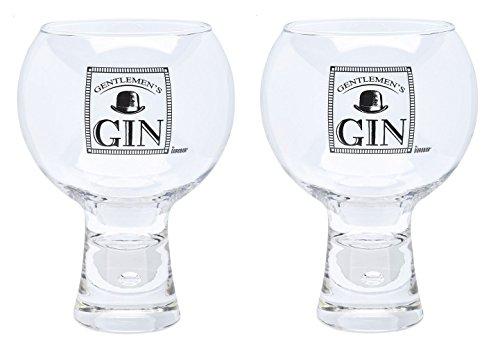 Durobor Alternato Bubble Base Set of 2 Gentlemans Gin Glasses Glass 19 floz
