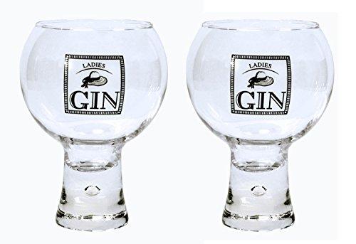Durobor Alternato Bubble Base Set of 2 Ladiess Gin Glasses Glass 19 floz