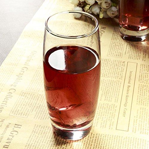 Durable Drinking Glasses SetsTransparent Lead-free Crystal Highball Glasses For Beer Whiskey Milk Juice Tea Coffee Household Wine Glasses 310ml Set Of 6