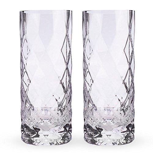 Viski 5205 Raye Gem Crystal Highball Glasses