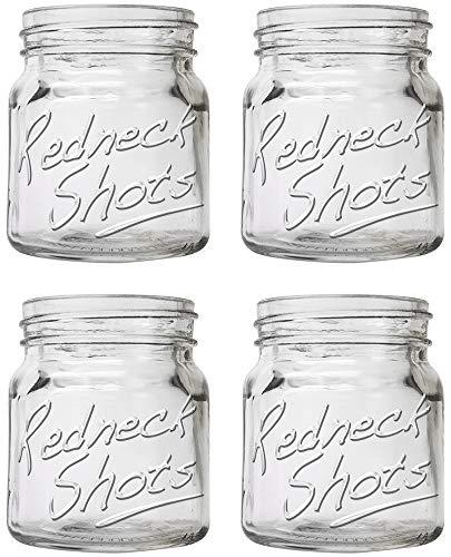 Redneck Mason Jar Shot Glass Set of 4