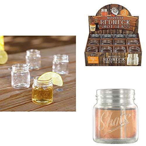 Set Of 10 Jar Shot Glasses Mini Mason Design 3 Oz Whiskey Moonshine Party Glass