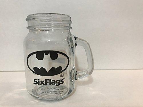 Six Flags Magic Mountain DC Comics Batman Shield Mini Mason Jar Shot Glass