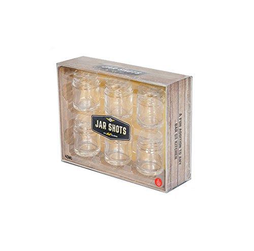 Thumbsup UK Shot Glass Jar Clear
