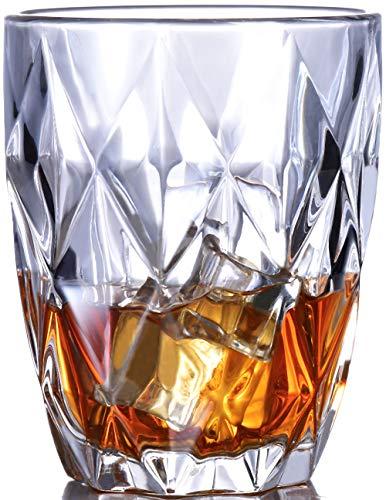 Whiskey Glass Set of 4-10 oz Bourbon Glasses for Old Fashioned Cocktails Scotch Glasses Style Glassware for BourbonRum glassesBar Glassware