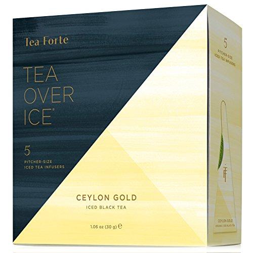 Tea Forte TEA OVER ICE Blends Five Iced Tea Infusers Celon Gold Black Tea