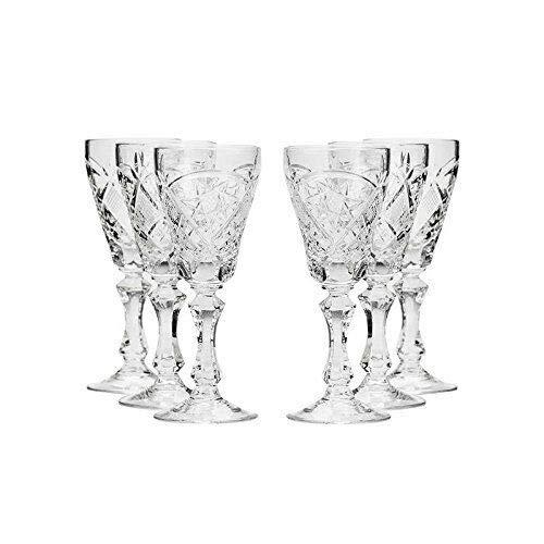 Belarus Crystal WG6997 2 Oz Handmade Vodka Shot Glasses Liquor Shots Set of 6