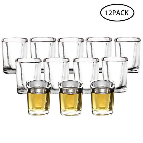 RUCKAE 12-Pack Heavy Base Shot GlassesClear Shot Glasses Set 2 OZ