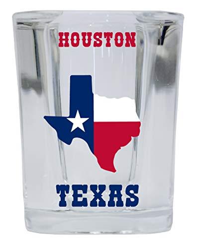 Houston Texas Square Shot Glass 4-Pack
