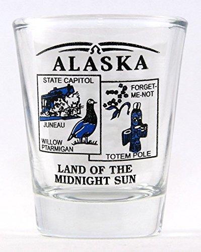 Alaska State Scenery Blue New Shot Glass