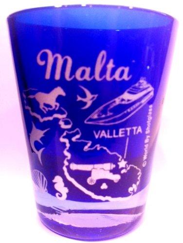 Malta Valletta Cobalt Blue Shot Glass
