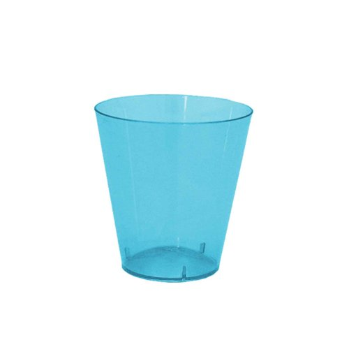 Party Essentials Hard Plastic 2-Ounce ShotShooter Glasses Neon Blue 50 Count