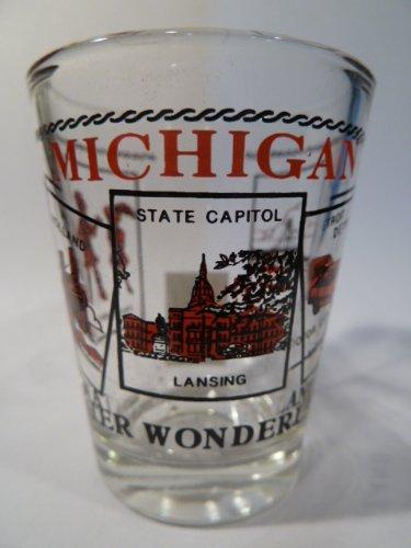 Michigan Scenery Red Shot Glass