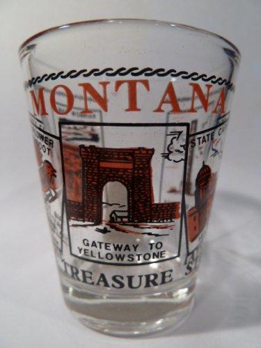 Montana Scenery Red Shot Glass