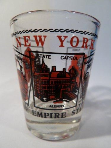 New York Scenery Red Shot Glass