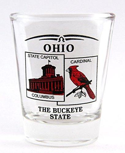 Ohio State Scenery Red New Shot Glass