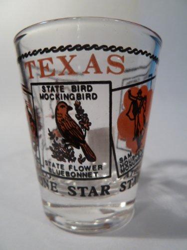 Texas Scenery Red Shot Glass