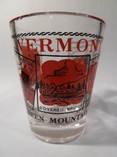 Vermont Scenery Red Shot Glass