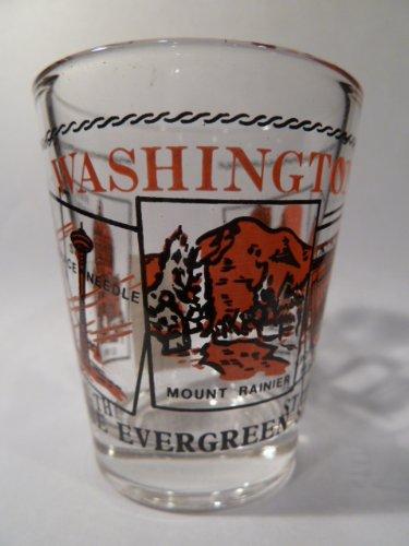 Washington State Scenery Red Shot Glass
