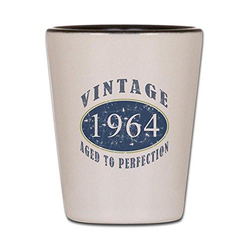 CafePress - 1964 Vintage Blue Shot Glass - Shot Glass Unique and Funny Shot Glass