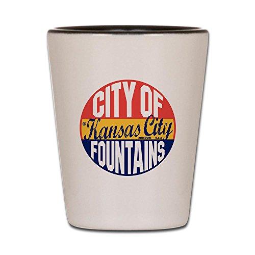 CafePress - Kansas City Vintage - Shot Glass Unique and Funny Shot Glass