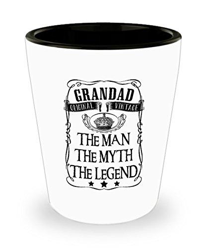 Grandad The Man The Myth The Legend Original Vintage Shot Glass Sayings Grandad Shot Glasses Funny Gifts